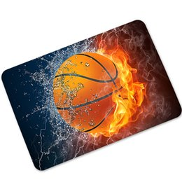 Wholesale Printed Area Rugs - Basketball Volleyball Football Green Lawn Foor Mats 40x60cm Kitchen Bathroom Hallway Welcome Door Mats Kids Room Area Rugs Carpet Tapete