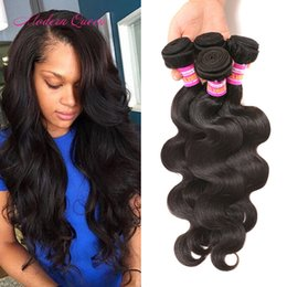 Wholesale Beauty Queen Human Hair - Queen Beauty Products Peruvian Body Wave Human Hair Weave 4 Bundles Peruvian Body Curly Hair Extensions Peruvian Hair Weave Free Shipping