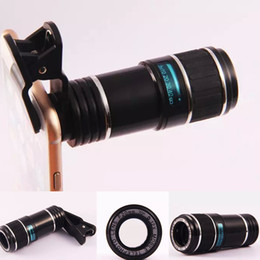 Wholesale Telescope Hd Camera - Clip in 12X 70 Degree F20MM Optical Zoom HD Telescope Camera Lens for Universal Mobile Phone