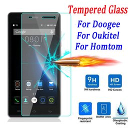 Wholesale F5 Body - Wholesale-9H Tempered Glass Screen Protector for Doogee X5 X6 Pro 550 F5 Y100 Homtom HT6 Ht3 Ht7 Pro Oukitel K4000 K6000 Phone Case Film