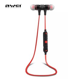 Wholesale Awei Earphone - Awei A920BL Bluetooth 4.0 Wireless Sport Exercise Stereo Noise Reduction Earbuds Build-in Microphone Earphone For Apple iPhone Galaxy S6 S5