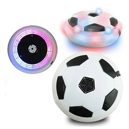 Wholesale Toy Suspended Air - Colorful LED Light Electric Suspended Football Game Lighting Air Cushion Football Sports Toy Indoor Football Novelty Magic balls