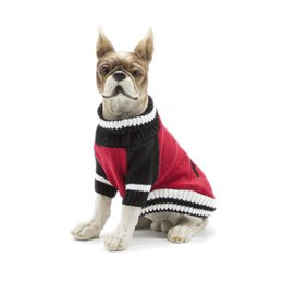 Wholesale Assorted Clothing Wholesale - Hot pet cat dog Knitting Sweater clothes in cold winter dog coats assorted colors Warm dog parkas for yorkshire Pitbull outfit freeshipping