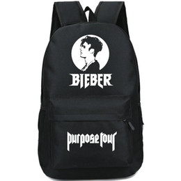 Wholesale Girls Purposes - Justin Bieber backpack Purpose tour daypack Super star schoolbag Music rucksack Sport school bag Outdoor day pack