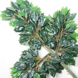 decorazioni di filiali Sconti 60 cm lunghezza plastica artificiale grande albero rami piante verdi casa decorazione della festa nuziale spedizione gratuita ZA4208