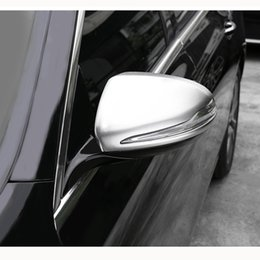 Wholesale Mercedes Benz Mirrors - Rear View Decorative Frame Rearview Mirror Cover Trim For Mercedes Benz C Class W205 C180 C200 C250 GLC X253 GLC200 GLC250