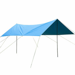 Wholesale Tent Rainproof - Wholesale- 3m*4m Outdoor Camping Hiking Awning Sun Shelter Tents 420D Oxford Rainproof Sun Shelter Tents Awning Cover Sun Shelter Tent