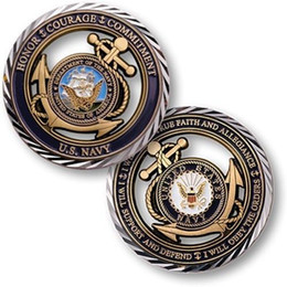 Wholesale United Core - U.S. Navy Core Values Hollow Coin,United States Challenge Coin