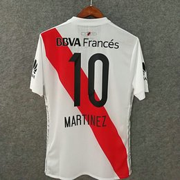 Wholesale Soccer Jersey River - Perfect 17 18 home river plate player version AAA football shirts authentic as worn by pros slim fit soccer jerseys custom name number