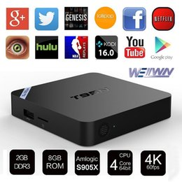 Mini box hd à vendre-T95N Mini M8Spro Android 6.0 TV Box S905X Quad Core 2 Go 8 Go 4K Internet Streaming TV