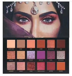 Wholesale flash color palette - New Twilight in the Desert 18 color eyeshadow palette Flash of light eyeshadow DHL free shipping