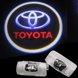 Wholesale White Toyota Camry - LED Car Door Warning Logo Light for Toyota Prius Camry Crown Sequoia Reiz HighLander Verso Corolla Previa Tundra Alphard Sienna
