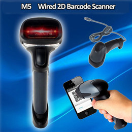 Wholesale Usb Qr Code Scanner - Wholesale- M5 Portable Hand-held 2D Barcode Scanner Wired USB Scanner QR Code PDF417 DataMatrix Laser Bar Code Scanner 2D For Mac OS