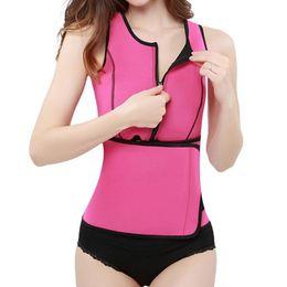 Wholesale Hot Body Workouts - Neoprene Sauna Waist Trainer Vest Hot Shaper Workout Shapewear Slimming Adjustable Sweat Belt Body Shaper S-3XL 50pcs