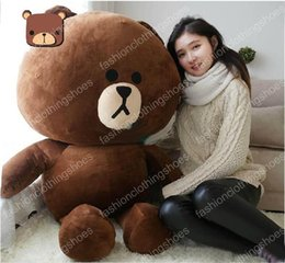 Wholesale Giant Plug - Hot item!47 inches giant plug line office soft plush 120 cm big brown bear cute cartoon toys children gift free shipping