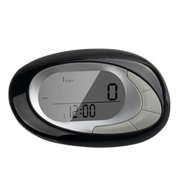 Wholesale Step Count - Wholesale- LCD Display Sensor Step count calories distance pedometer With 7day Memory Valentine's Day Gifts#YL