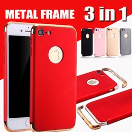 Wholesale Note Shock Proof Case - 3 in 1 Combo Matte Frosted Plating Hybrid Slim Shock Proof Hard Plastic Cover Armor Case For iPhone 8 7 Plus 6S SE Samsung S8 Note 8