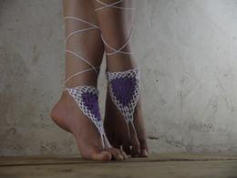 Wholesale Wholesale Custom Sandals - Custom colorful crochet barefoot sandal,Crochet shoes sandal,Wedding barefoot sandals,Beach shoes,Bridesmaid barefoot,Foot thongs