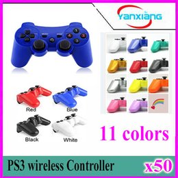 Wholesale Wholesale Ps - For ps3 original wireless controller joystick for ps3 controller With Packaging 50 pcs YX-PS-03