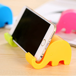 Wholesale Elephant Phone Stand - 5 Color Universal flexible Cell Phone holder Lazy Mobile Phone Stand Holders Stents Elephant icon Clip Bracket For iphone Wholesale