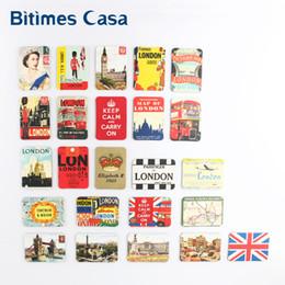 Wholesale Wholesale Souvenirs Fridge Magnet - Wholesale- home decoration 24 PCS UK England London tower bridge refrigerator fridge magnets set souvenir UK queen magnetic stickers