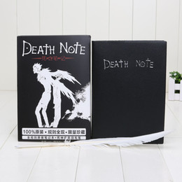 Wholesale Notebook Pen Set Wholesale - Hot Sale Death Note Notebook & Feather Pen Book Japan Anime Writing Journal New Free shipping