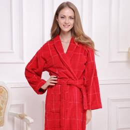 27247bd965 Cotton bathrobe sleepwear bathrobes for women men blanket towel robe  thickening lovers long super soft robe plus size free shipping