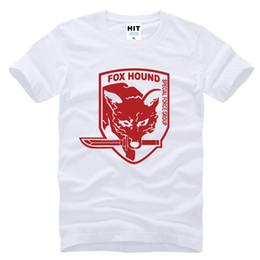 Chemises à engrenages métalliques en Ligne-Metal Gear Solide MGS Fox Hound Jeu Vidéo Hommes Hommes De Mode 2017 À Manches Courtes Coton T-shirt T-shirt