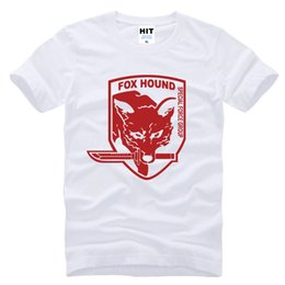 Wholesale Fox Games - Metal Gear Solid MGS Fox Hound Video Game Mens Men Fashion 2017 Short Sleeve Cotton T-shirt Tee