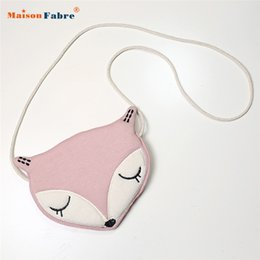 Wholesale Best Baby Bags - Wholesale-Best Deal New Fashion Lovely Baby Fox Pattern Girl's HandBag Cute Storage Bag Single Shoulder Bag Gift 1PC
