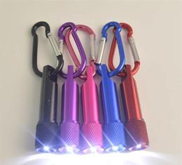 Portátil Mini Lanterna LED Chaveiro Liga de Alumínio Tocha com Mosquetão Anel Chaveiros Mini Lanterna Mini-luz livre DHL de
