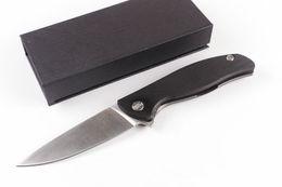 Argentina Oferta especial Cuchillo de aletas plegables de gama alta de Rusia D2 acero 60HRC Hoja de acabado satinado Aleación de titanio Cuchillos de supervivencia con mango G10 cheap russia knives Suministro