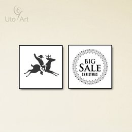 Wholesale Christmas Oil Pictures - Modern Nordic Animal Wall Picture Painting Christmas Big Sale Oil Painting Prints For Living Room Home Decor Gifts