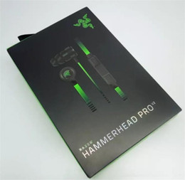 Wholesale Earphones Gaming Headset - Razer Hammerhead Pro V2 Headphone in ear earphone With MIC Microphone In Ear Gaming headsets Noise Isolation Stereo Bass With Retail package