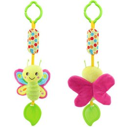 Wholesale Butterfly Plush - Wholesale- 1 Piece Baby plush Animal rattle mobile musical teether brinquedos juguetes bebes jouet stroller crib butterfly bird owl toys