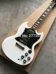 2019 кремовая белая гитара Высокомарочная электрическая гитара с 3 Приемистостями, Cream белым цветом, весь цвет доступна, реальные выставки фото дешево кремовая белая гитара