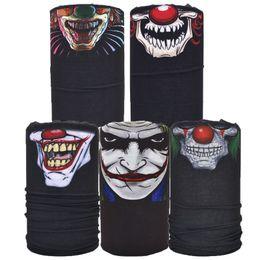 Wholesale Smile Face Mask - Wholesale- 5 pcs Joker Smile Face Mask Multifunctional Tubular Skull Bandana
