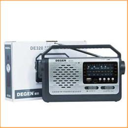2019 flash player mp3 Atacado-novo Original Degen DE320 Rádio FM MW SW1-2 Handheld Banda Full Radio Receiver USB Flash Disk Cartão TF mp3 Player Multiband Radio desconto flash player mp3