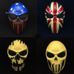 Giocattoli terroristici online-The Emirates Iron Skeleton Maschere a pieno facciale Real CS Terrorist Mask Movie Puntelli Party Toys Adult Party Movie Tema Puntelli Fornitura