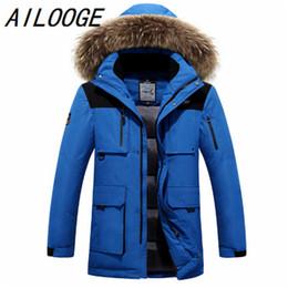 Wholesale Man Down Winter Jacket Canada - 2016 winter men jacket duck down coat fashion thick men canada parka high-quality plus size men warm Winter coat raccoon natural