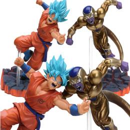 Gefrier-action-figuren online-Gold Orange 14 cm Super Saiyan Goku Sohn Freeza Gefrierschrank Ultimative Form PVC Action Figure Dragon Ball Z Anime Kampf Edition Spielzeug