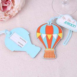 Wholesale air f - Luggage Tag Creative Design Hot Air Balloon Baggage Tags Honey Moon Trip Boarding Pass Novelty Decor 5 2yk F R