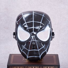 Wholesale Gold Party Masks Cheap - 10pcs Cheap Spider-Man mask Halloween Field operations mask The most popular style wholesale party Hip-hop Masquerade man\'s mask
