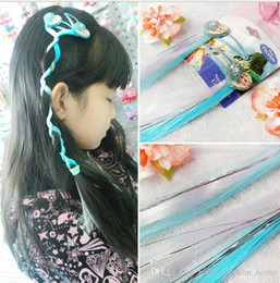 Wholesale Valentines Hair Accessories - 50pcs 5cm Elsa Anna long hair clip Headwear Female Girls Hair Accessory Wafer Side-knotted Clip Hairpin Valentine Day B365