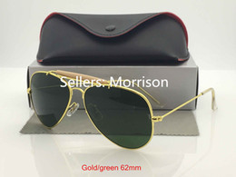 Wholesale Mercury Mix - Men sunglasses mirror outdoor mercury glasses G15 Lens gold black silver frame women Sunglasses With box