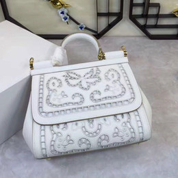 Wholesale saddle white - Star with a hollow bag Fashion Shoulder Hand Bag Leather really cross