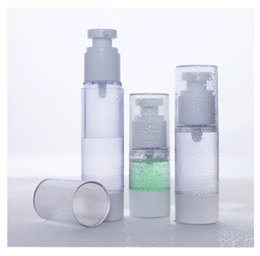 Wholesale Cosmetic Airless Spray Bottles - High quality 50ml PP clear Cosmetic lotion airless Bottles  skin care spray bottle with pump top wholesale