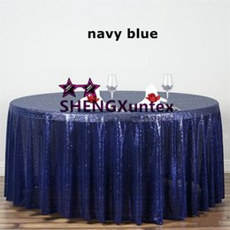 Wholesale Hotel Round Table - Round Size Sequin Table Cloth \ Wedding Banquet Hotel Decoration Tablecloth