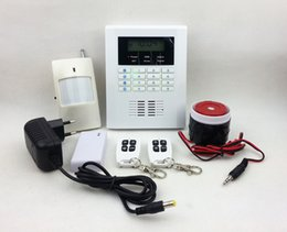 Wholesale Dual Network Security Alarms - New Intelligent Alarm Dual Network GSM & PSTN Security Alarm System 101 zones Voice Intercom LCD Display SG-204