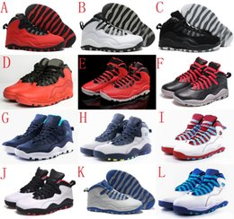 Wholesale Red Chi - Retro 10 Man NYC CHI Rio LA Hornets City Pack Vivid Pink 10s Men's Basketball Shoe Sneakers Retro X Sports Shoes Size: 7-13 US